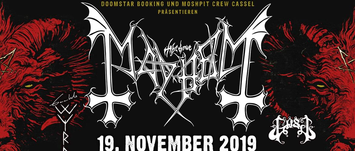 Tickets Mayhem, Gaahls WYRD, Gost in Kassel