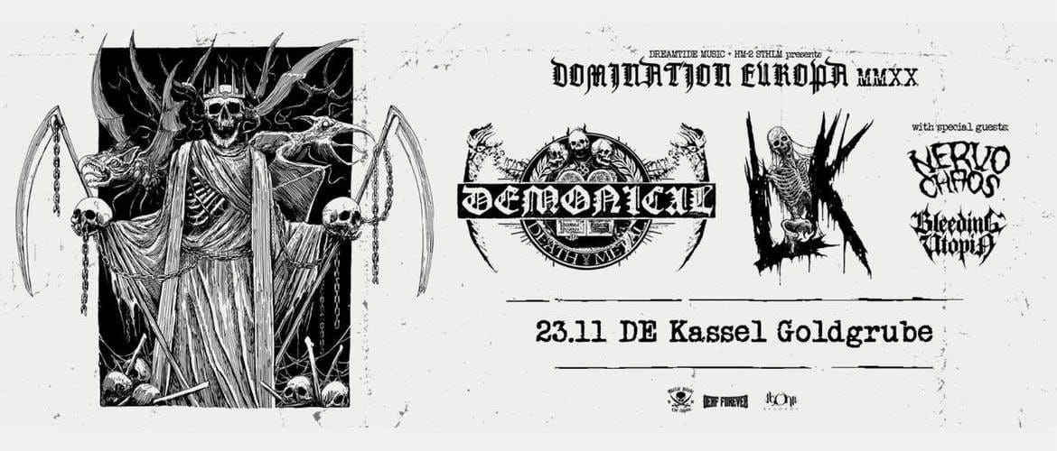Tickets  DEMONICAL + LIK + NERVO CHAOS + BLEEDING UTOPIA,  in Kassel